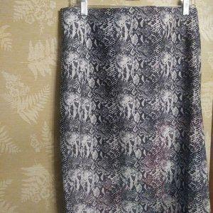 Katherine Barclay snake print skirt